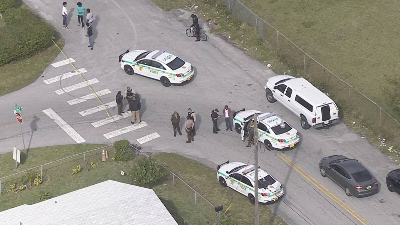 police scene shooting in nw miami-dade