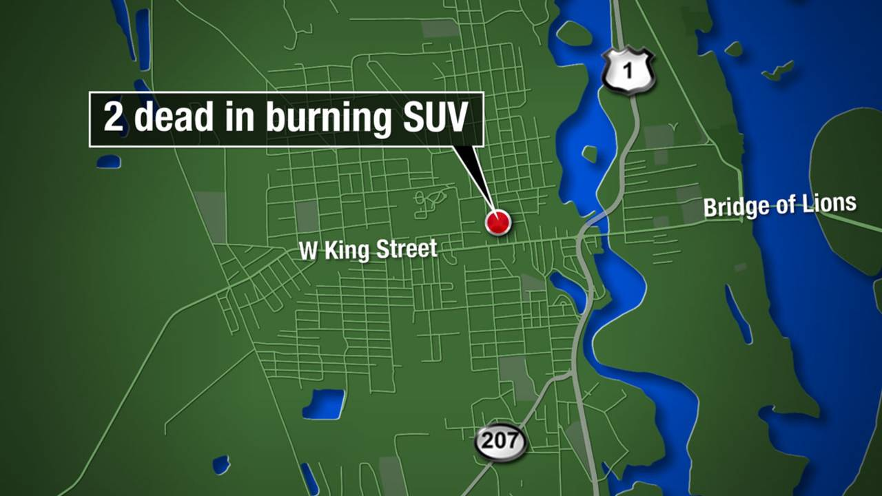 Map - 2 dead in burning SUV