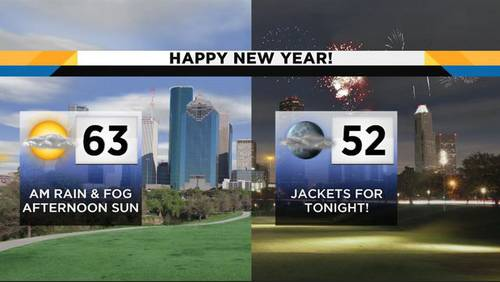Rain clears out just in time for New Year's Eve celebrations