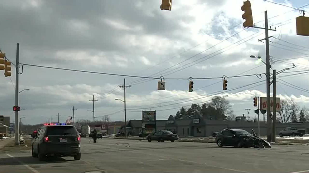 Stolen semi truck crime spree crash scene
