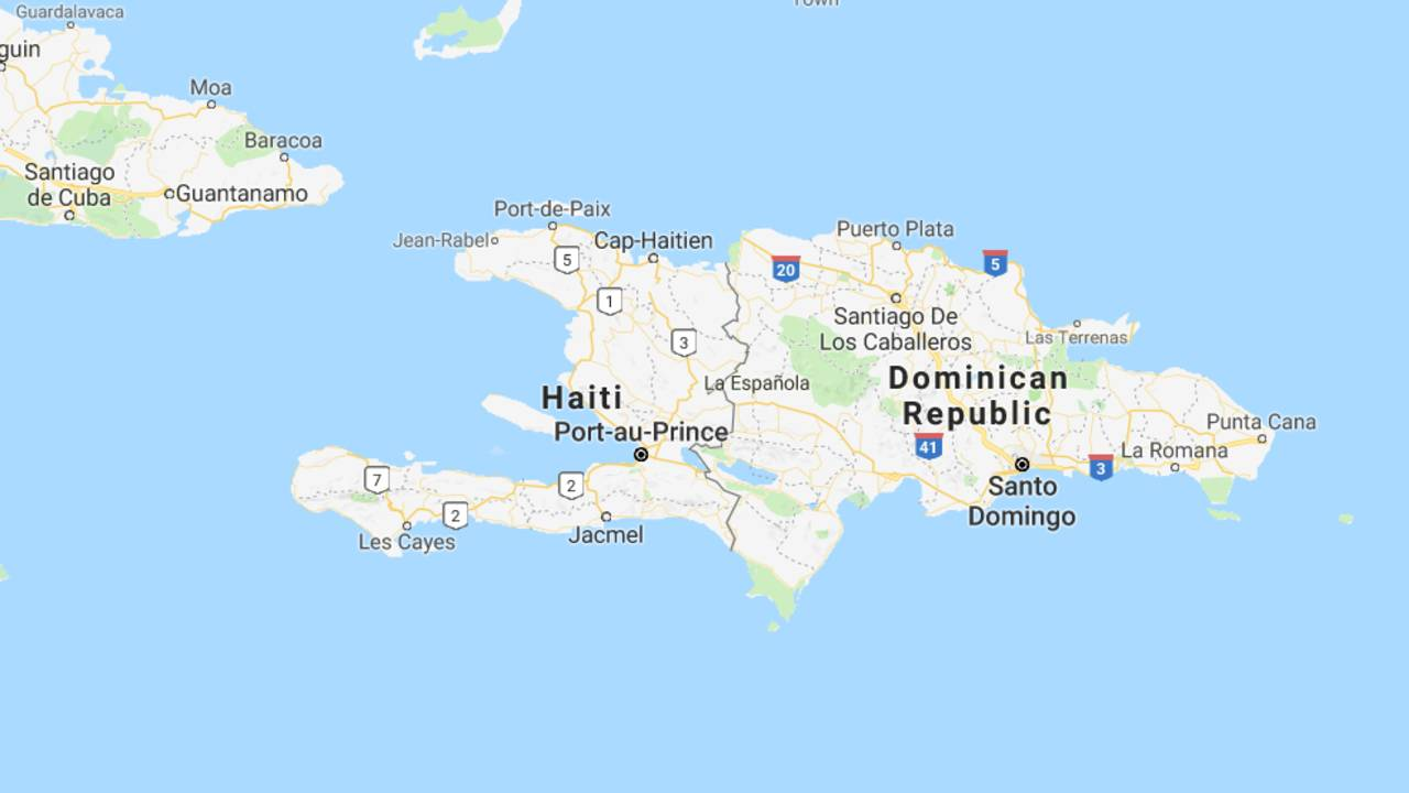 Americans Detained In Haiti Have Returned To Us - Map-of-haiti-and-us