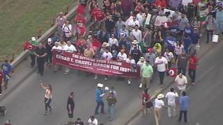 Thousands march through West Side to honor Cesar Chavez