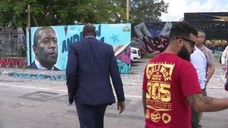 Miami artist unveils mural of Florida gubernatorial candidate Andrew Gillum