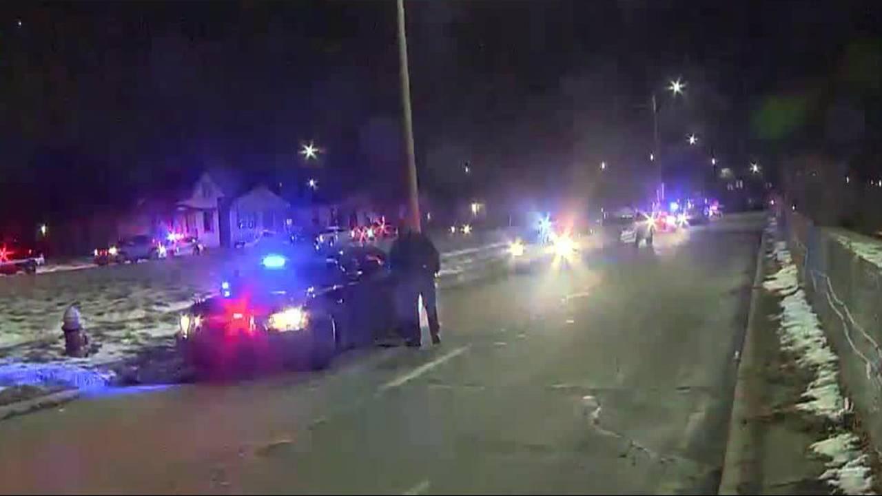 Detroit police officers shot on city's west side image