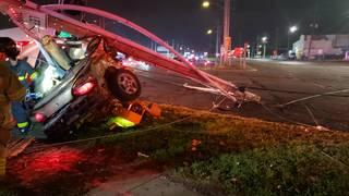Fatal crash closes 8 Mile Road and Groesbeck Highway until