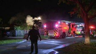 Blind woman, family members escape North Miami house fire