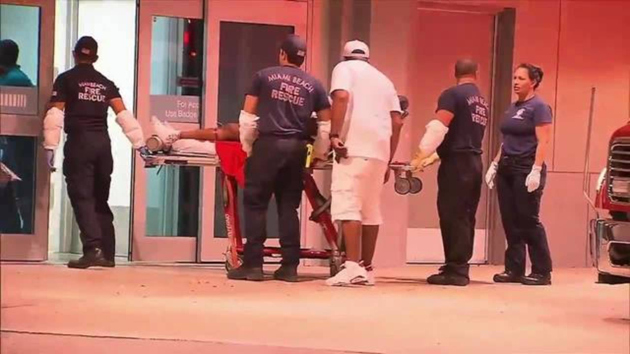 Fontainebleau Miami Beach shooting victim arrives at JMH