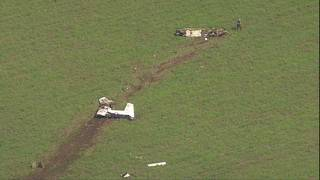 Air Force trainer plane crashes near Rolling Oaks Mall