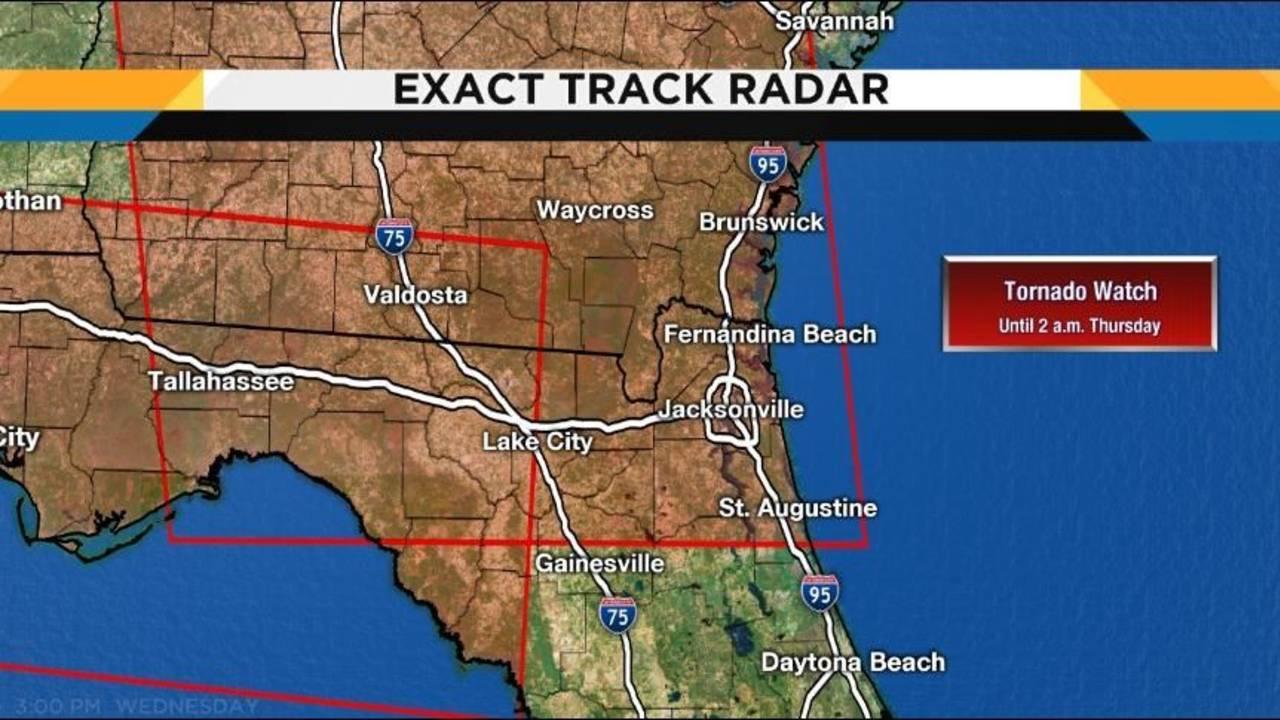 Florida Tornado Map.Tornado Watch Canceled For Parts Of Ne Florida Se Georgia
