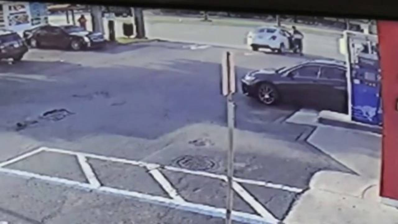 Surveillance image of Sal Paschell getting into car being stolen