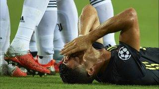 Champions League: Ronaldo in tears after seeing red for Juve