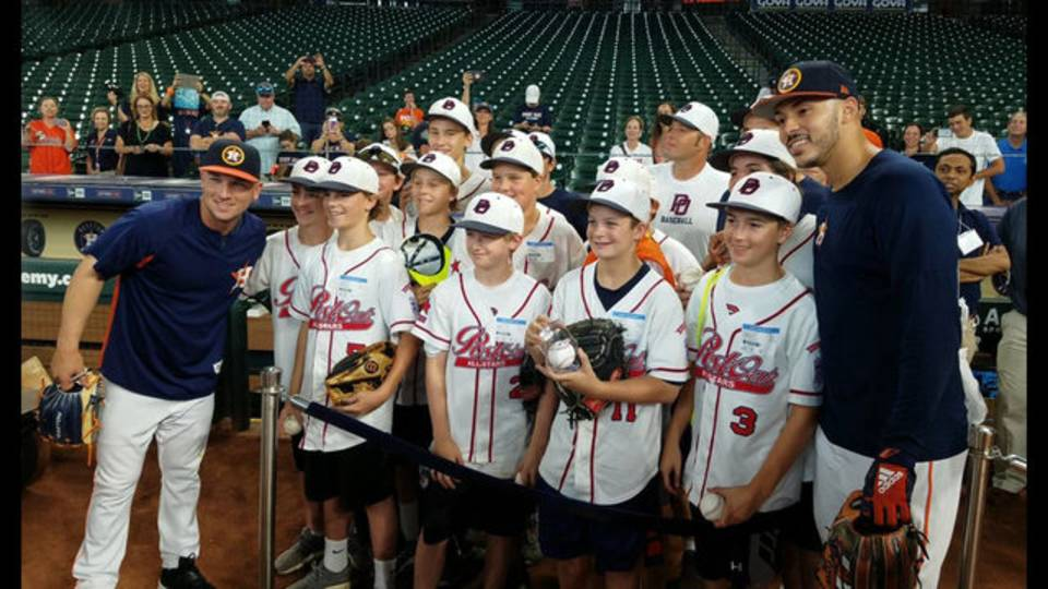 post oak little league meets houston astros