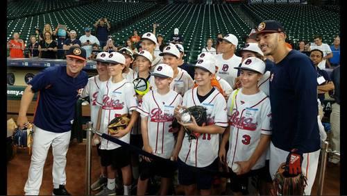Post Oak Little League team meets Astros ahead of World Series run