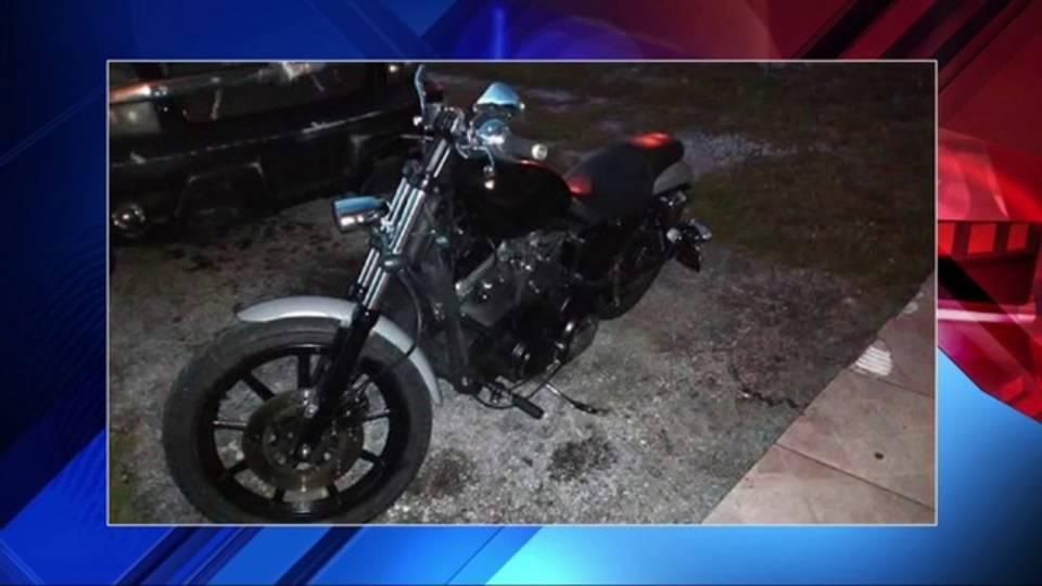 Dale Halls' motorcycle