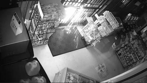VIDEO: Man cuts way into store, steals $10K in cash, causes $7K in damage