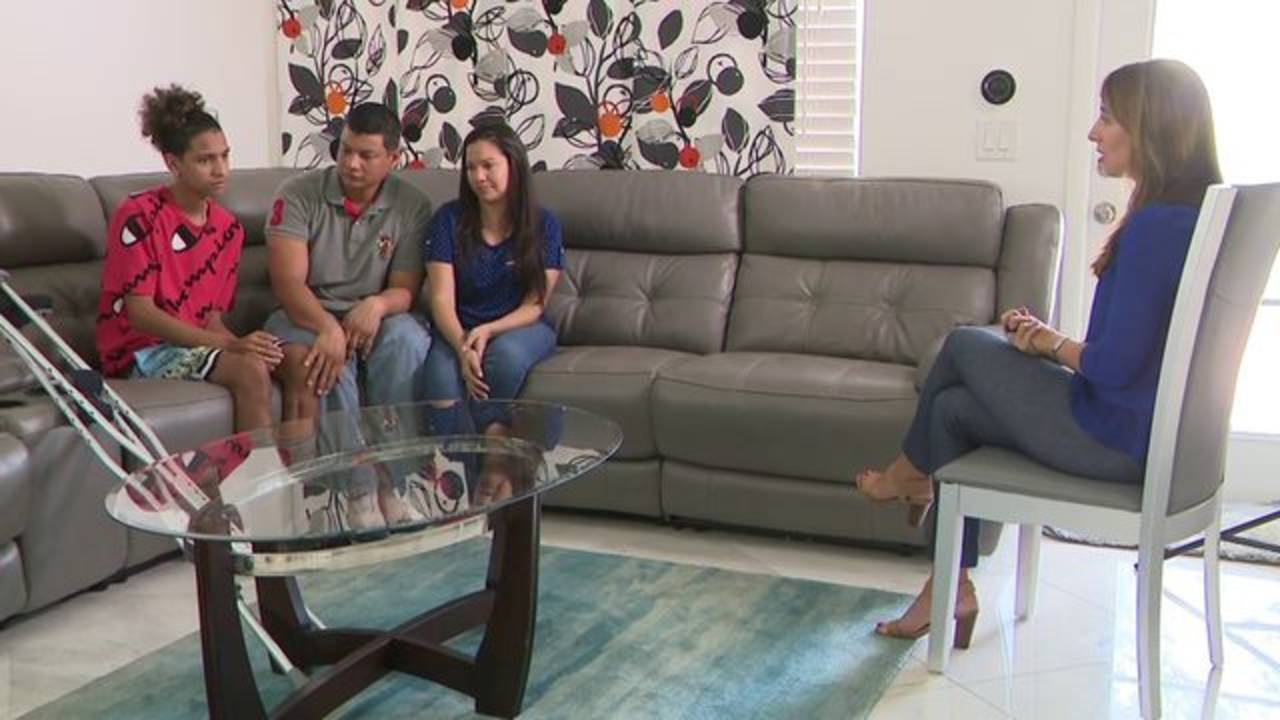 Amy Viteri speaks to Anthony Borges and family