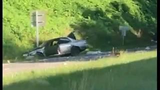 2 car crash on Route 220 southbound