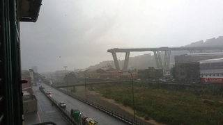 Highway bridge collapses in Italy, leaving about two dozen dead