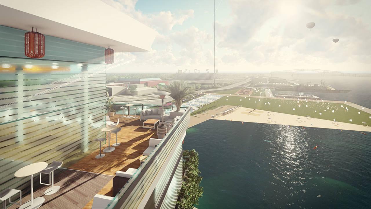 JaxONE Shipyards rendering 4 main roof top