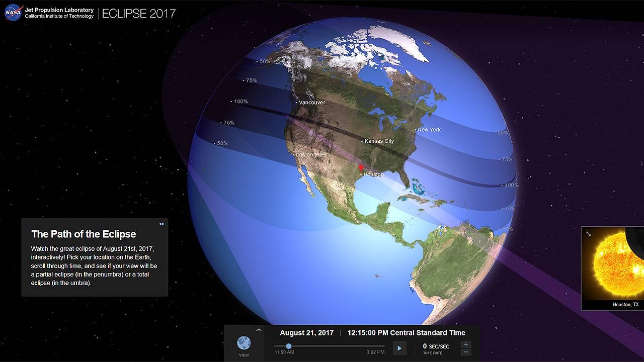 Solar Eclipse Interactive From Nasa