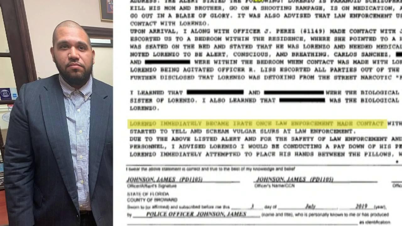 Lorenzo Sanchez with police report