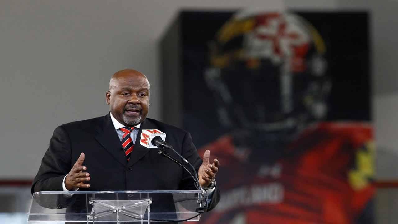 Maryland Terrapins head coach Mike Locksley