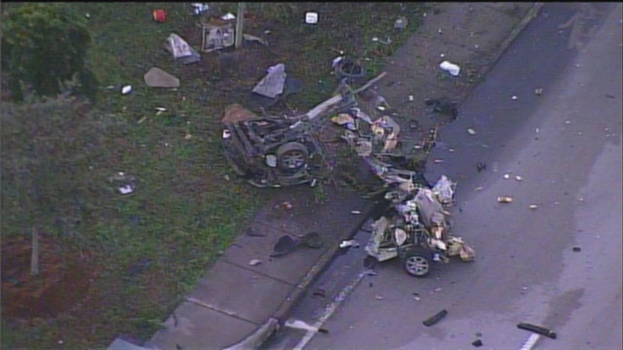 Sky 10 car mangled mess after Red Road crash