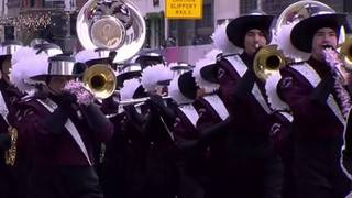 Marauder Marching Band performs for thousands at Thanksgiving parade in Detroit