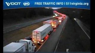 One hurt in I-81 wreck involving two tractor-trailers and a minivan