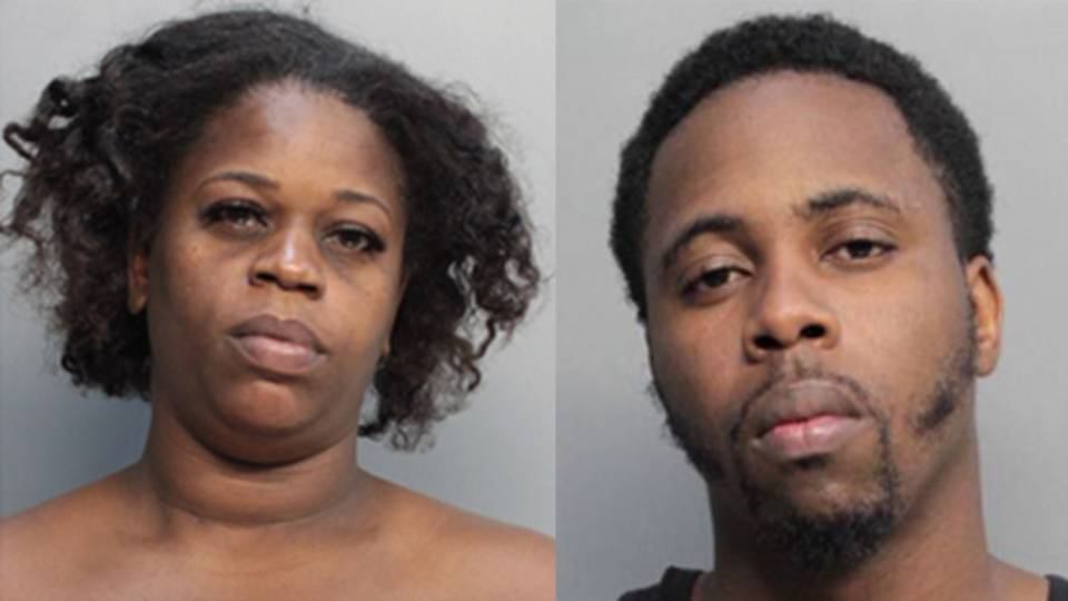 Ladonna Florence and Zion Smith mugshots
