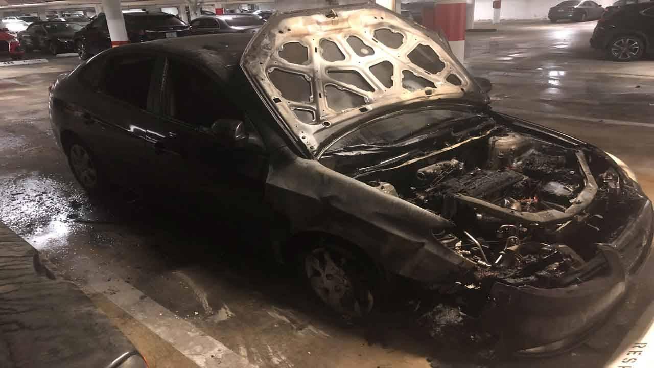 Hyundai Elantra car fire
