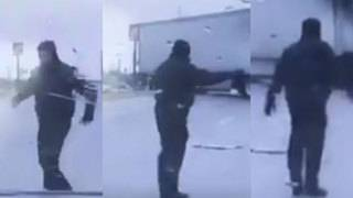 Local police department posts hilarious ice fail, movie mashup video