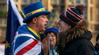 As Brexit deadline looms, protests turn nasty