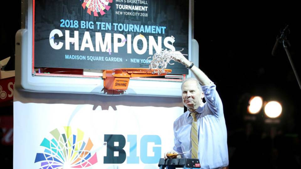 John Beilein Michigan basketball 2018 Big Ten Tournament champions