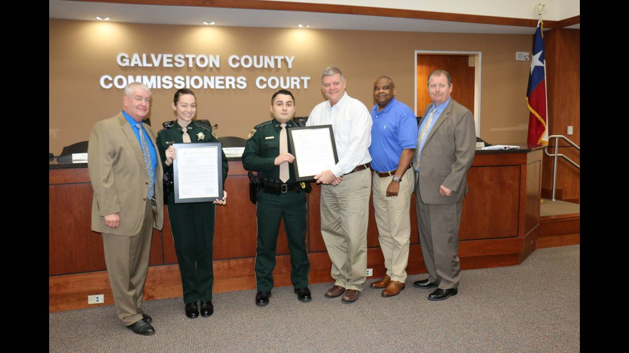 Deputies honored by Galveston County Commissioners Court