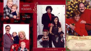 Family takes hilariously awkward Christmas card photos for 15 years straight