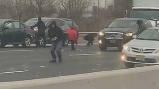 Brinks truck incident causes mad dash for cash on highway