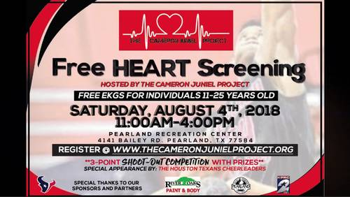 KPRC teams up with The Cameron Juniel Project to provide free heart screenings