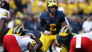 57c98b8feee Shea Patterson calls out signals while playing Maryland on Oct. 6