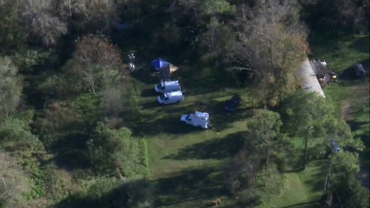 Aerial photo of Bayard area where skeletal remains of a child were found