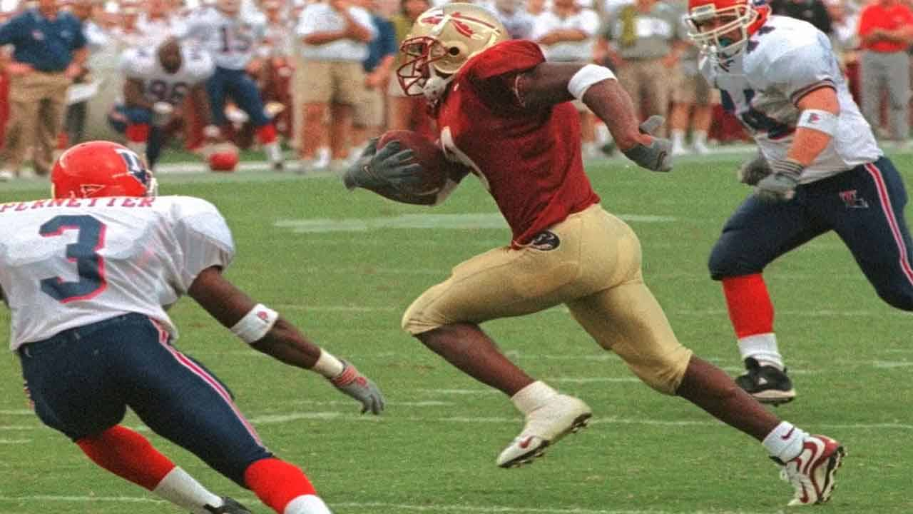Florida State Seminoles wide receiver Peter Warrick vs. Louisiana Tech in 1999