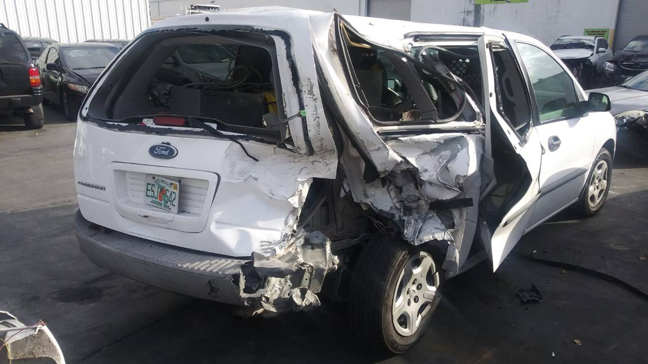 Damaged car from firefighter hit-and-run crash