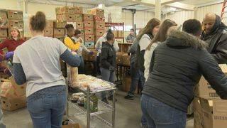 Volunteers help Danville food bank in honor of MLK Day