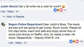 Seguin police help man get excused from work by writing hilarious note&hellip&#x3b;