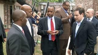 HUD Secretary Ben Carson among officials touring Eureka Gardens