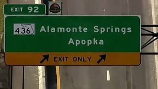 Crews replace I-4 sign that misspelled Altamonte Springs