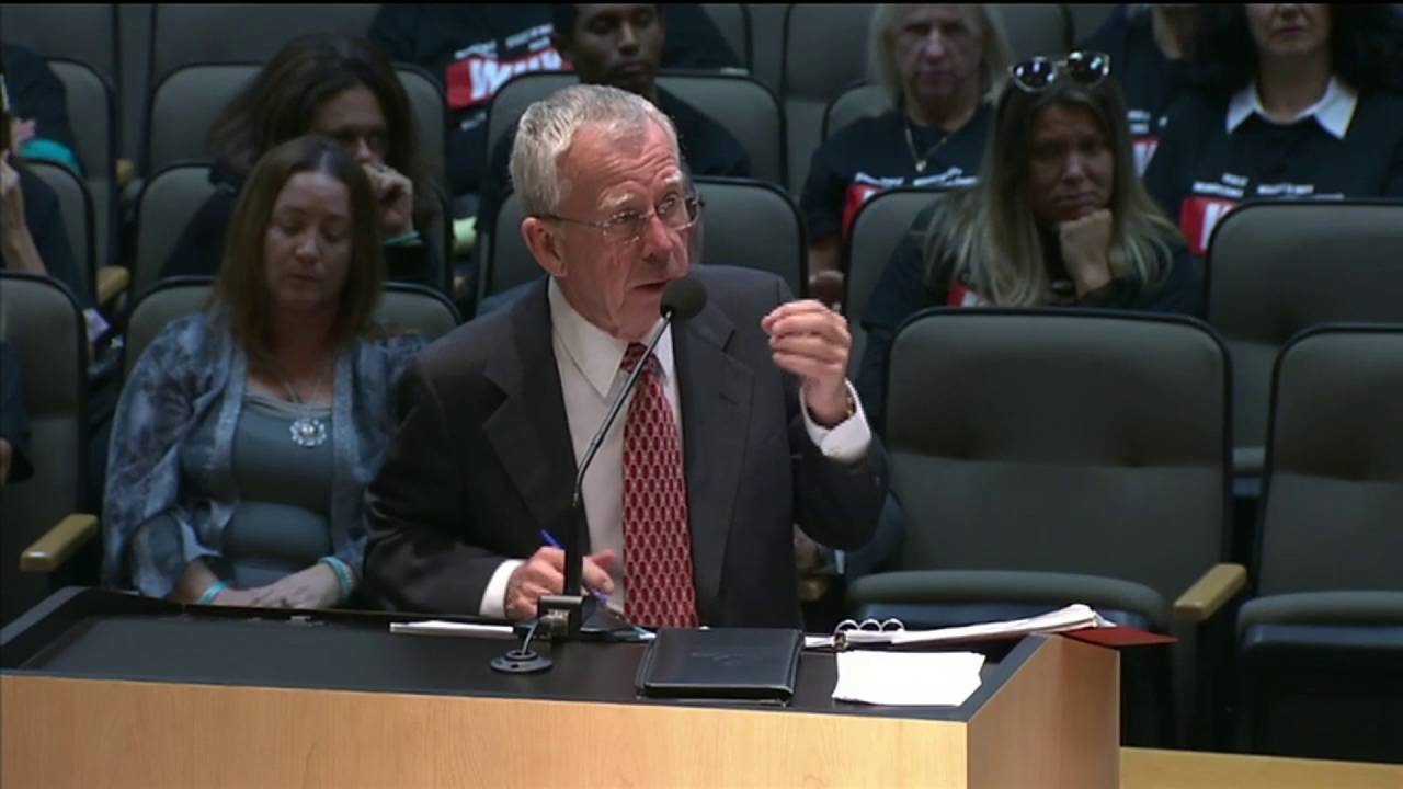 Special Master Dudley Goodlette testifies before Florida Senate