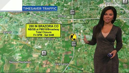 TRAFFIC ALERT: Highway 288, FM 518 in Pearland closed for parts of weekend