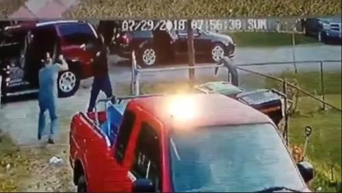 Man recalls being robbed by masked gunmen in driveway