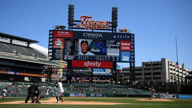 Leonys Martin Detroit Tigers vs Orioles 2018